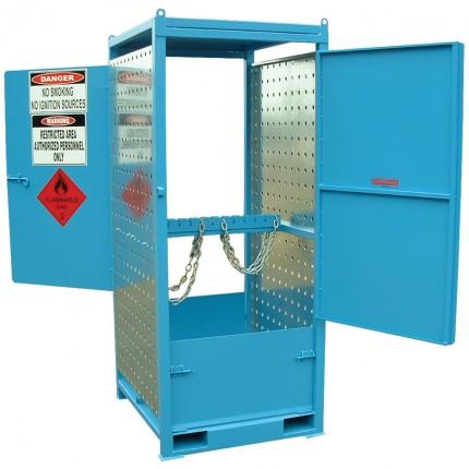 gas cylinder storage cabinet - dual sided small