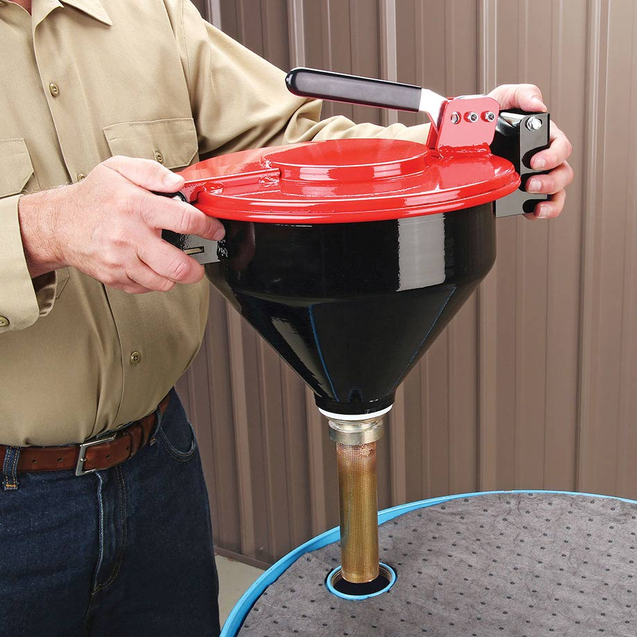 drum funnel for flammable liquid