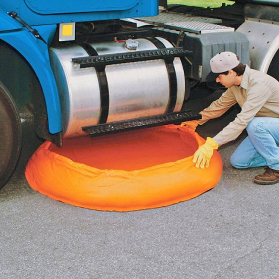 under vehicle spill containment pool