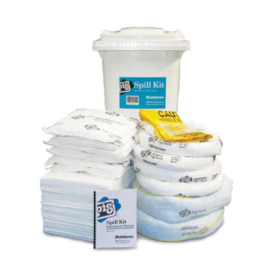 Oil Spill Kit Bin Large